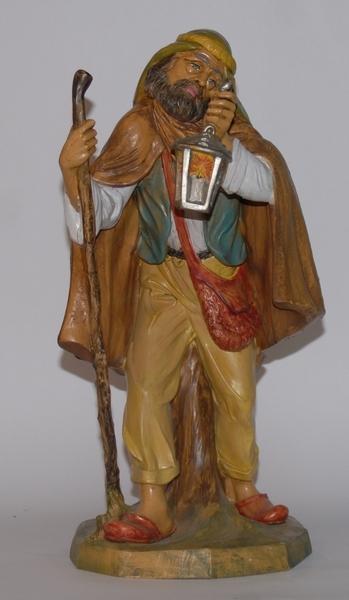 Pastore con lanterna in plastica cm. 45