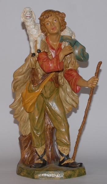 Pastore con pecora in plastica cm. 45