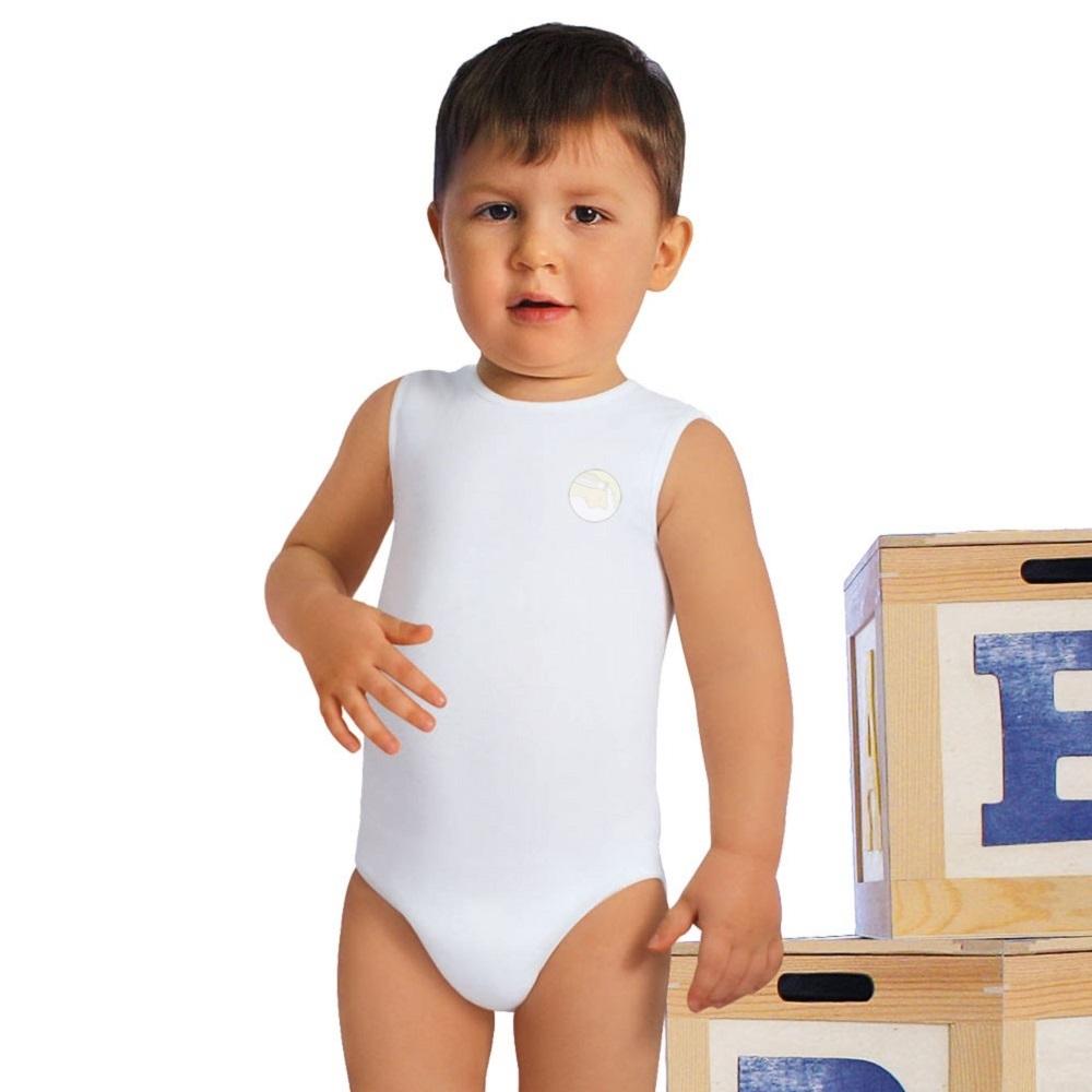 Body evolutivo cresce col bambino - anallergico in fibra di latte Taglia Unica 6 - 36 mesi