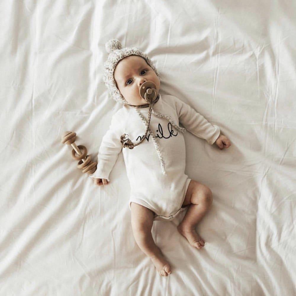 Body a maniche lunghe milk