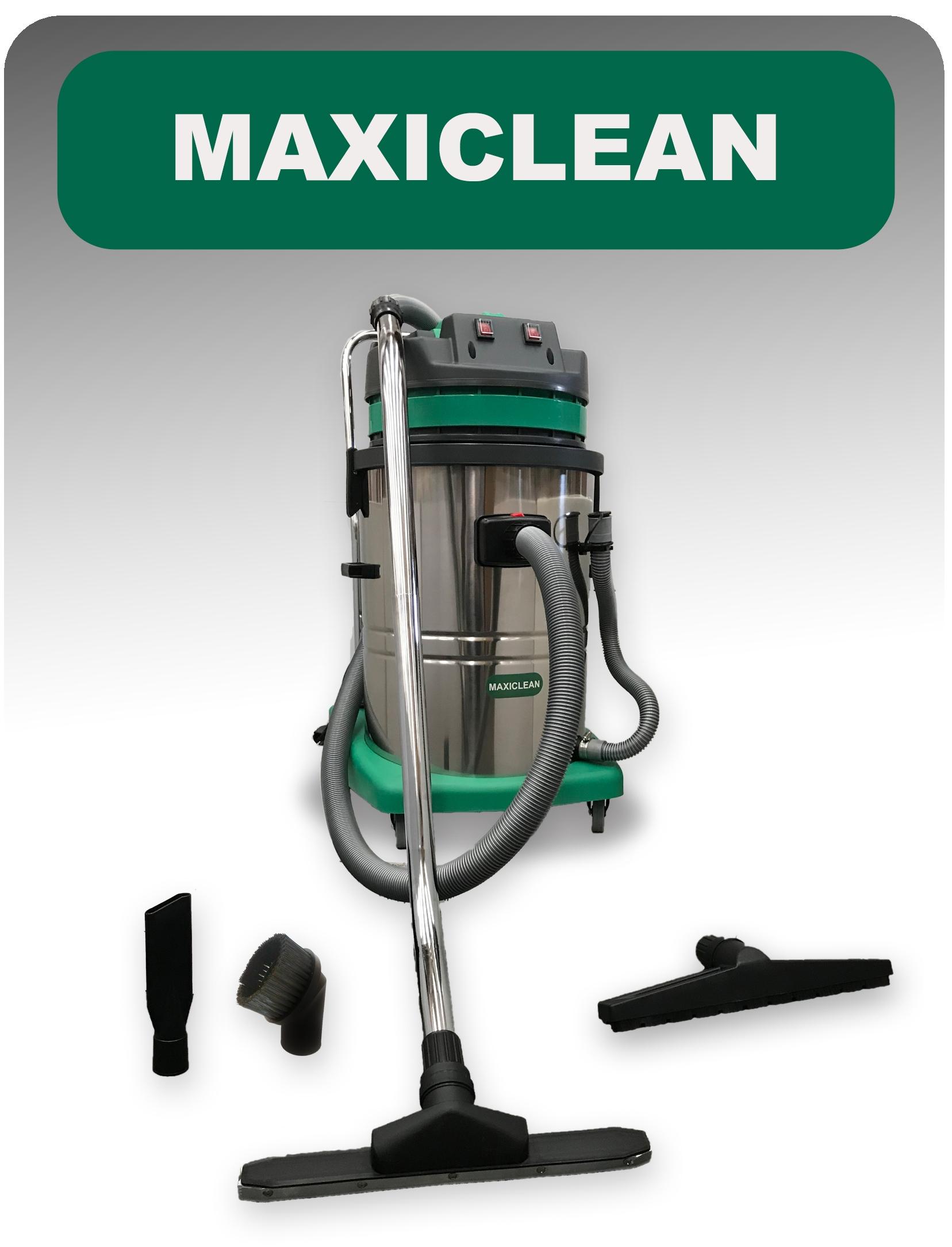 Aspirapolvere & Aspiraliquidi BASIC 2000 Watt Industriale per uso Professionale con tubo scarico e due motori Mod: CB60L MAXICLEAN