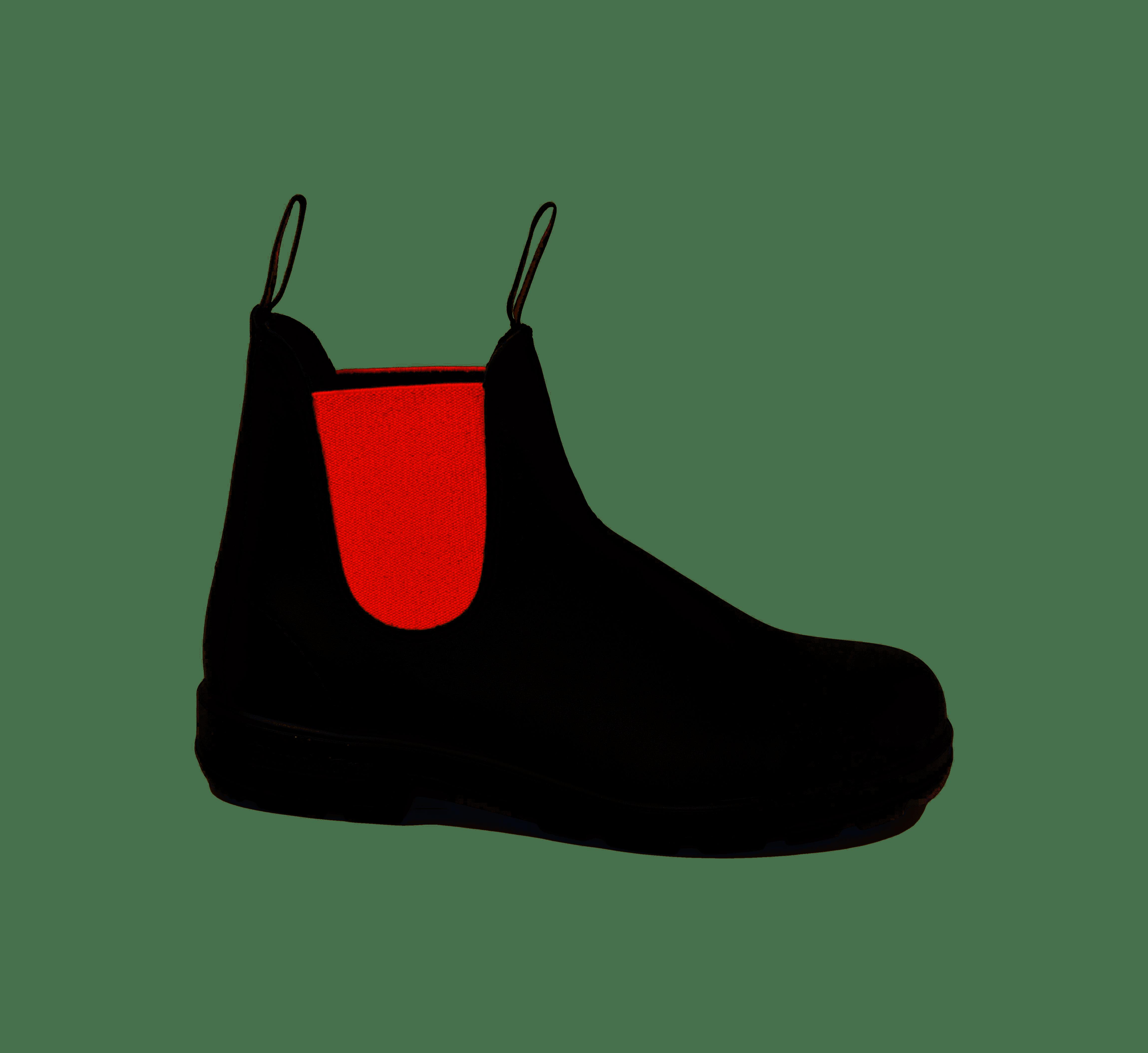 Boot uomo e donna BLUNDSTONE STYLE 508 BLACK/RED