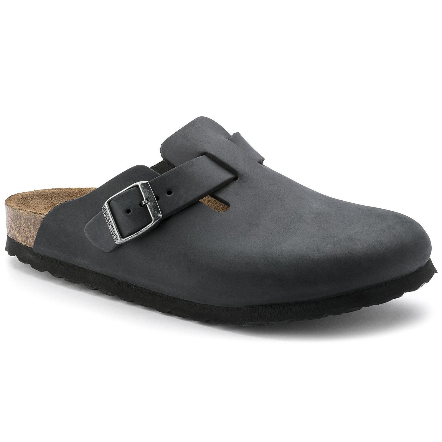 Sabot uomo BIRKENSTOCK BOSTON Oiled Leather Black
