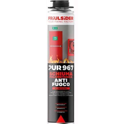Friulsider pur 967 schiuma poliuretanica per pistola anti fuoco 750ml art.967010
