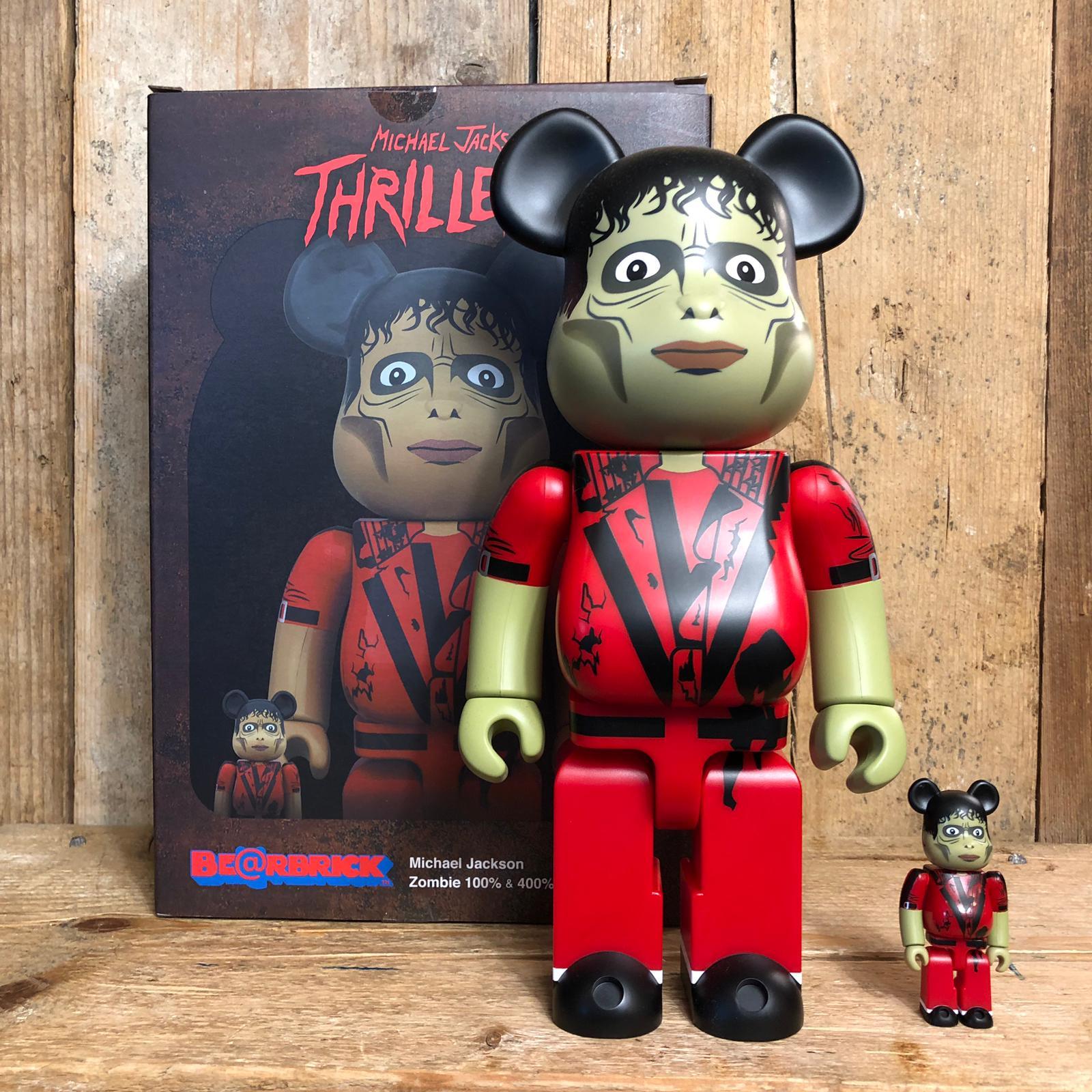 Be@rbrick Medicom Toy Michael Jackson Zombie 100% e 400%