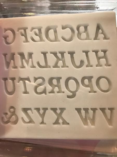 Alphabet sugarflex Silikomart