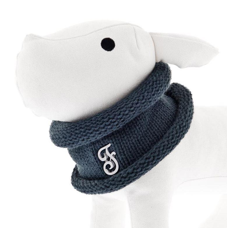 Scaldacollo per cani  Blu Ferribiella