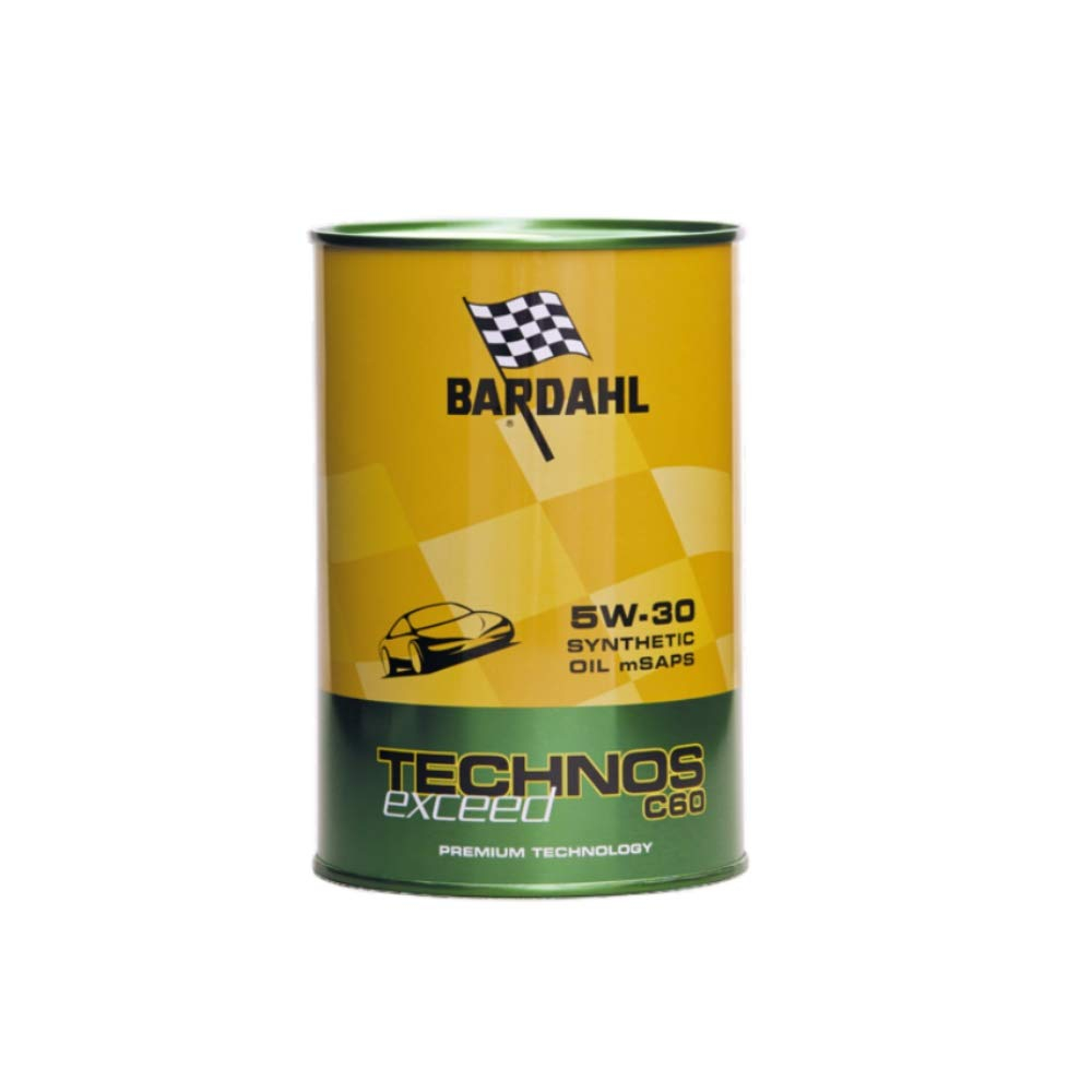 OLIO MOTORE BARDAHL TECHNOS EXCEED C60 5W30 PREMIUM TECHNOLOGY 1L