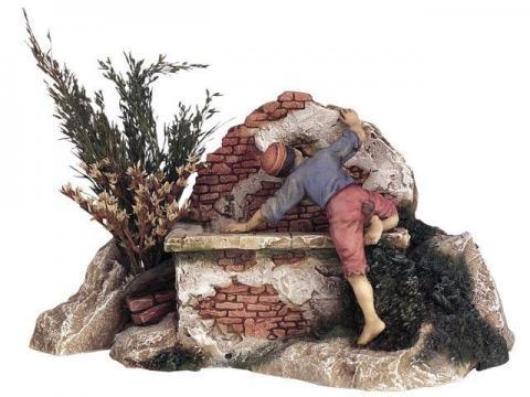 Ragazzo alla fontana cm. 13
