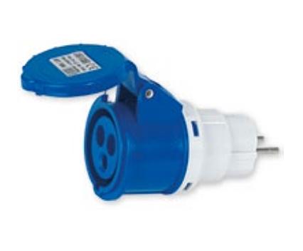 Hit adattatore spina schuko presa CEE  2P+T 220-240V