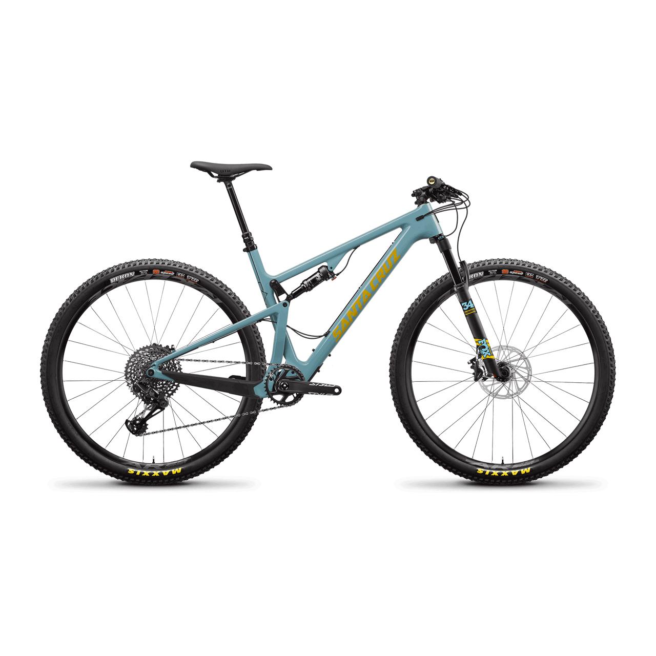 SANTA CRUZ Bici XC-MARATHON - BLUR C S TR 29 GLOSS AQUA 29 XC