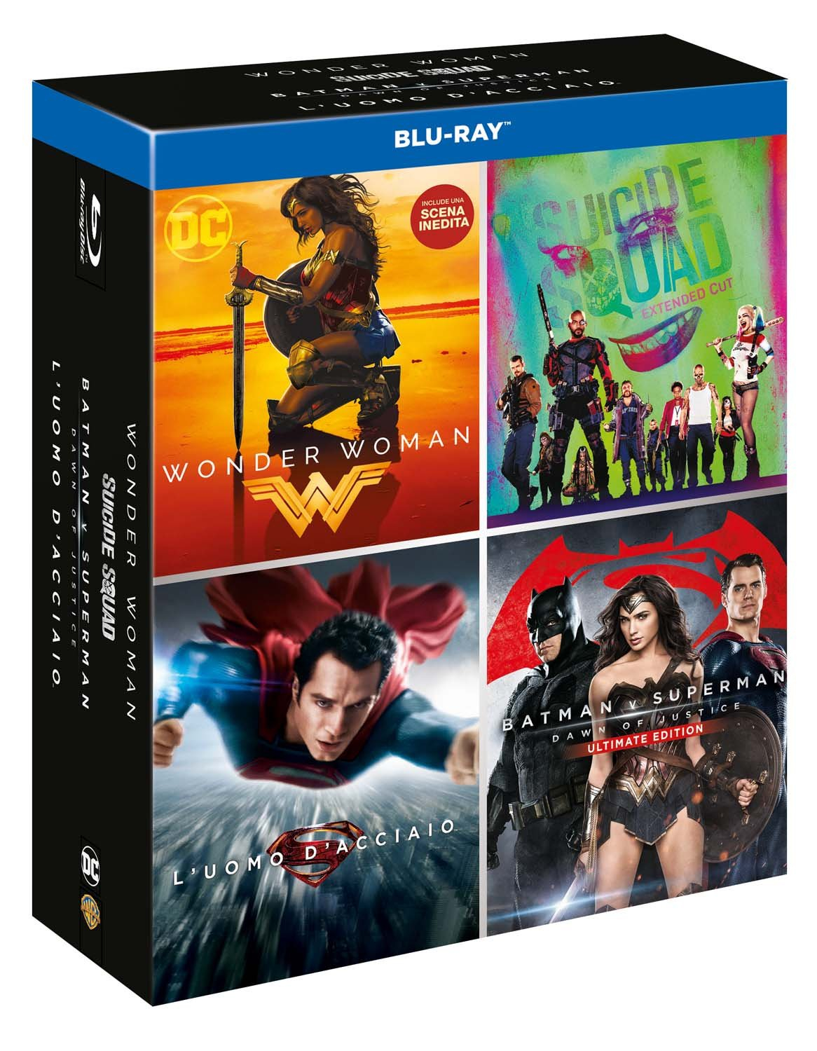 Boxset DC 4 Film (4 Blu-Ray)
