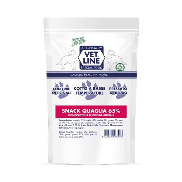 Snack quaglia Vet Line 80 gr