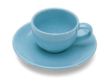 GIANNINI TAZZINA CAFFE' CON PIATTINO TURCHESE COLOURS 27007