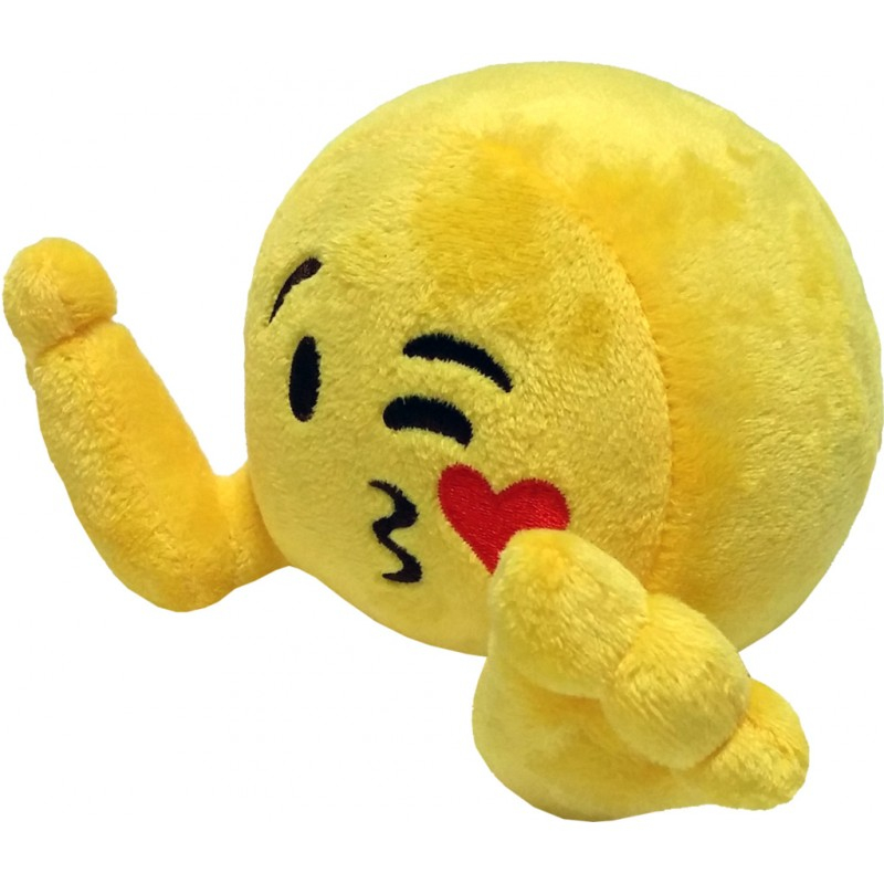 Peluche: Plushiez Emoji (11cm) Blowing Kisses