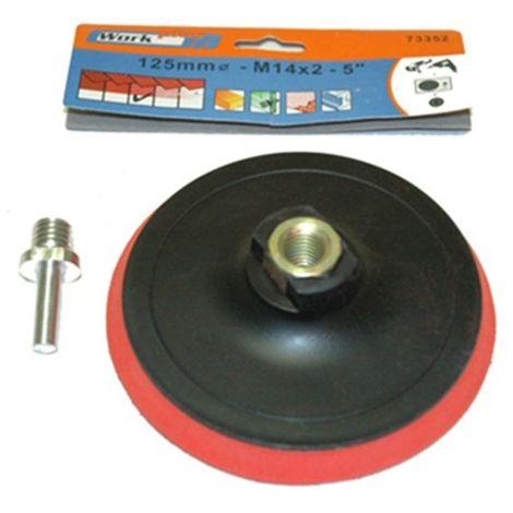 Mistral platorello con velcro 125mm utilizzabile con smerigliatrice o trapano