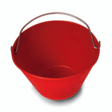 Mistral 114191 secchio da muratore in plastica rosso diametro  36cm