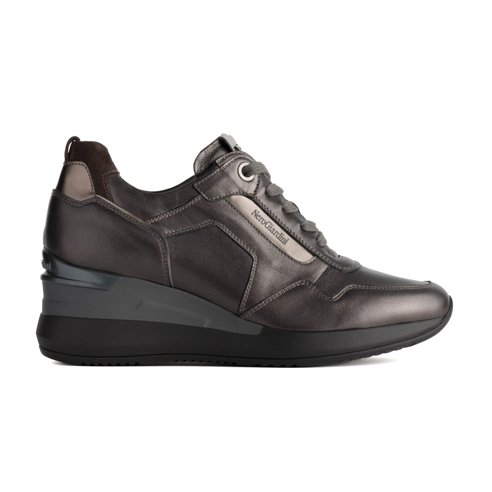 Sneaker antracite con zeppa Nero Giardini