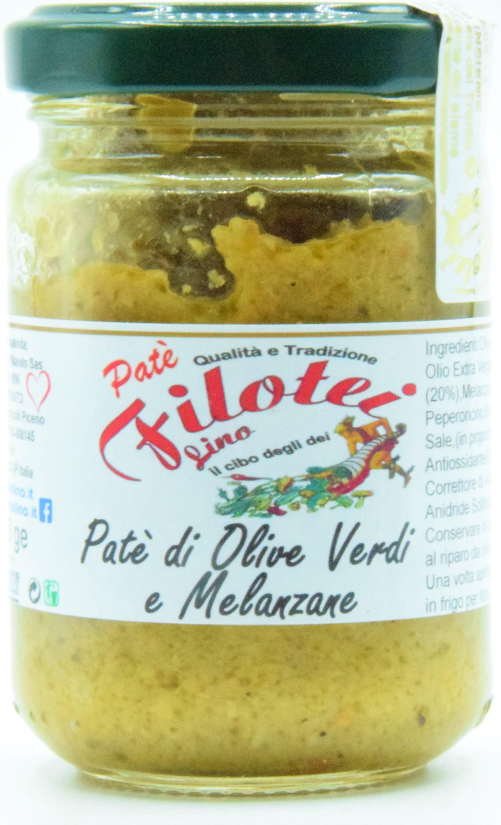 Paté di Olive Verdi e Melanzane