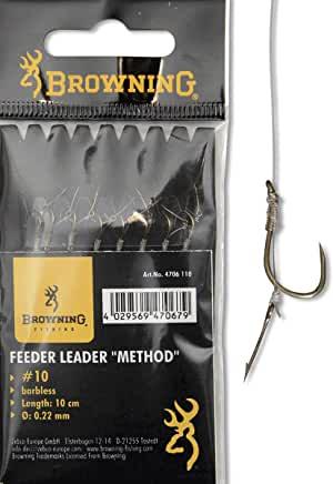 Browning Feeder Method - Ganci da pesca con ago Boilie bronzo - 10cm