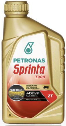 Olio PETRONAS Sprinta T900 per motori 2T ,Completamente sintetico, tanica lt 1