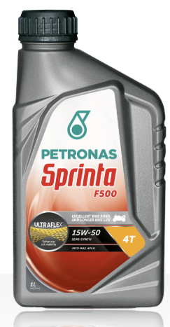 Olio PETRONAS Sprinta F500 15W-50, semisintetico, 4T, tanica lt 1