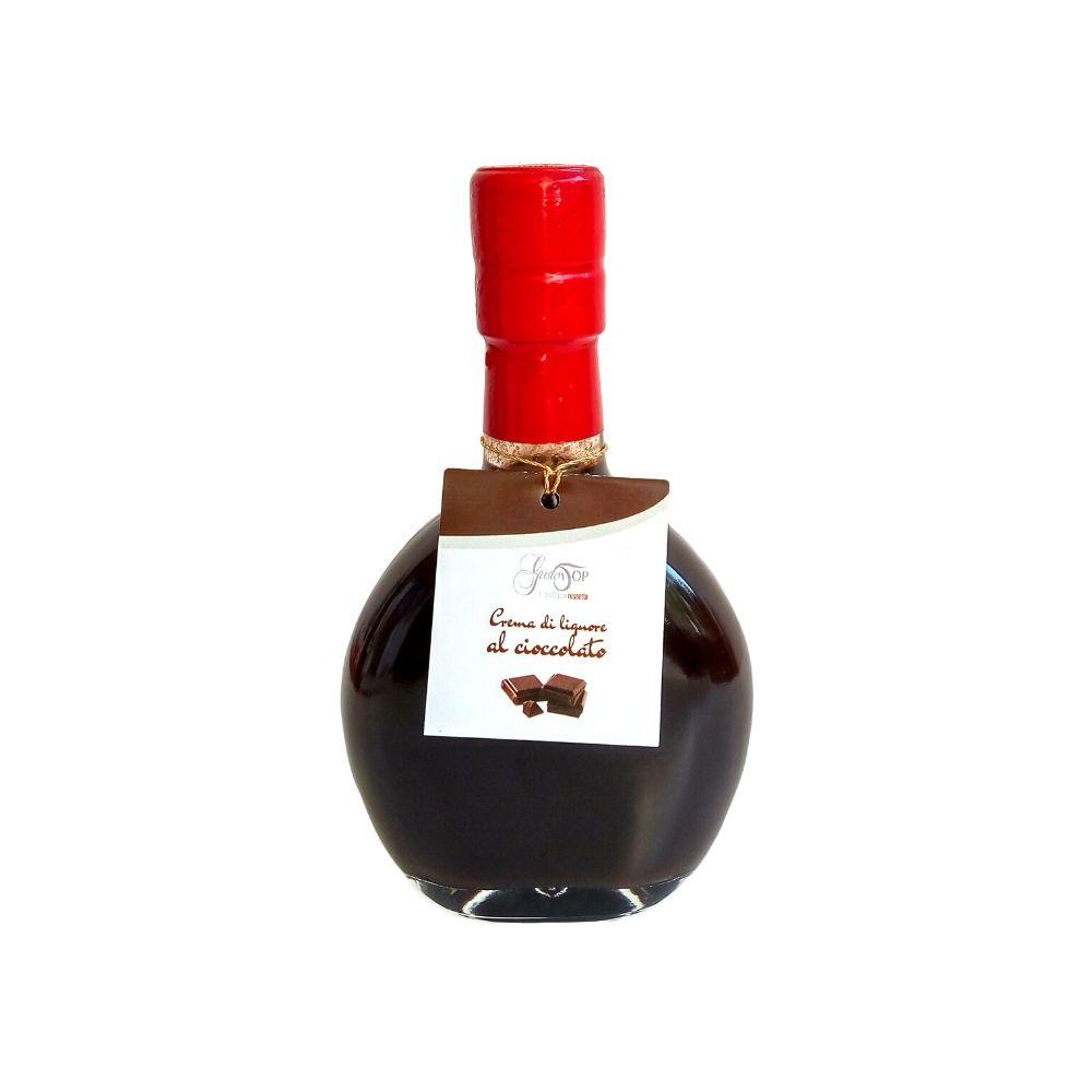 Crema di liquore al cioccolato, disponibile nei formati da 20 cl, gustosa crema di pregati cacai a bassa gradazione alcoolica