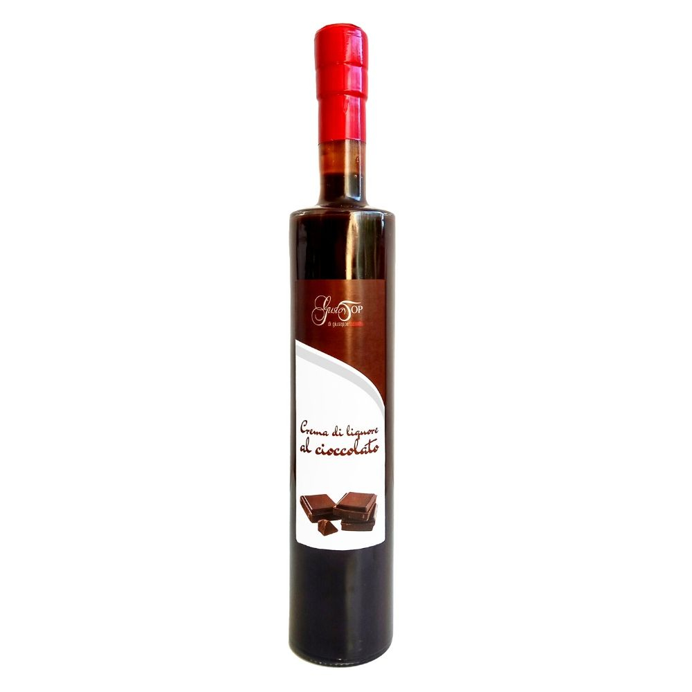 Crema di liquore al cioccolato, disponibile nei formati da 50 cl, gustosa crema di pregati cacai a bassa gradazione alcoolica-2
