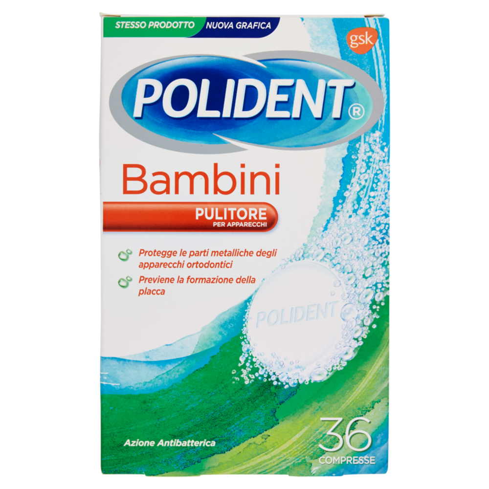 POLIDENT Bambini Pulitore 36 Compresse