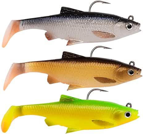 Savage Gear - 3 esche in gomma 3D - spinning - swimbait per lucci, pesce persico e lucioperca