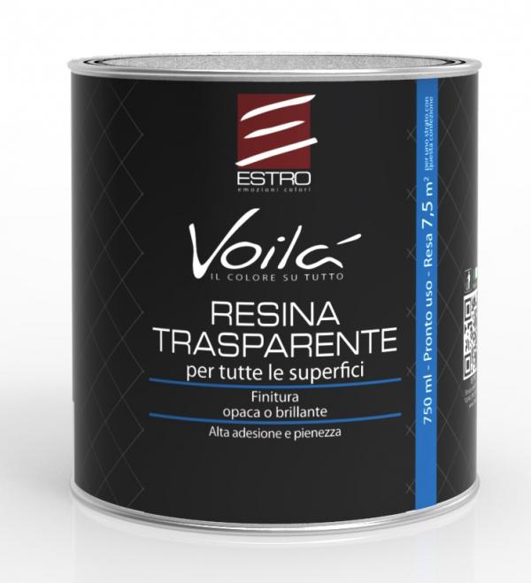 Covema voilà resina di finitura per supporti difficili colore trasparente opaca 205