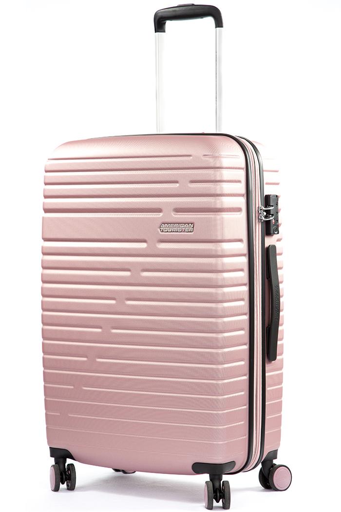 Trolley medio American Tourister AeroRacer 68 cm espandibile Rose Pink