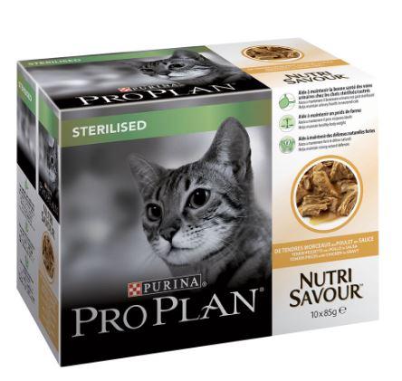Pro Plan Sterilised Nutri Savour Sterilised Pollo 10 x 85 Gr