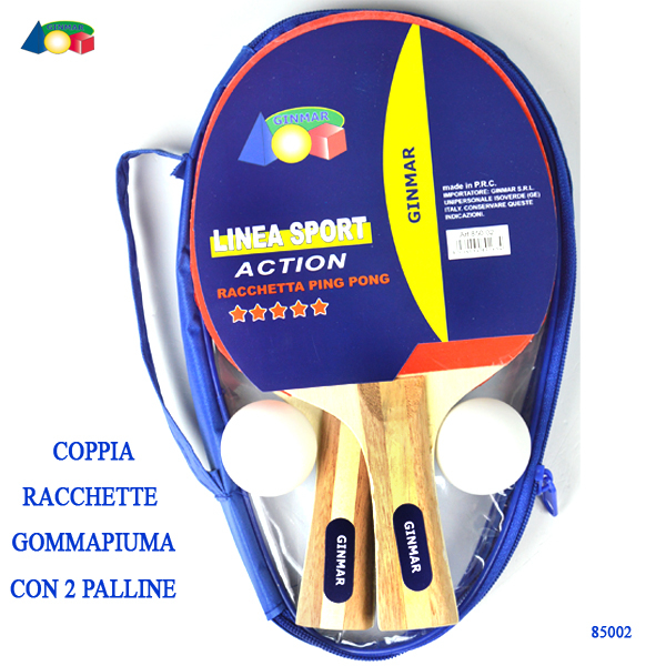 PING PONG CONF.2 RACCHETTE LUSSO 85002 GINMAR srl
