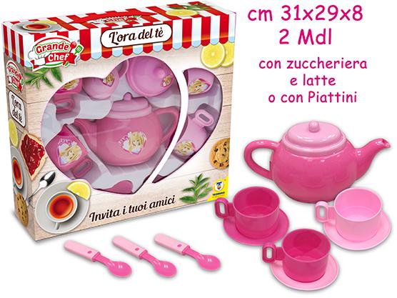 MISS SIGNORINA TEA SET PINK 62146 TEOREMA
