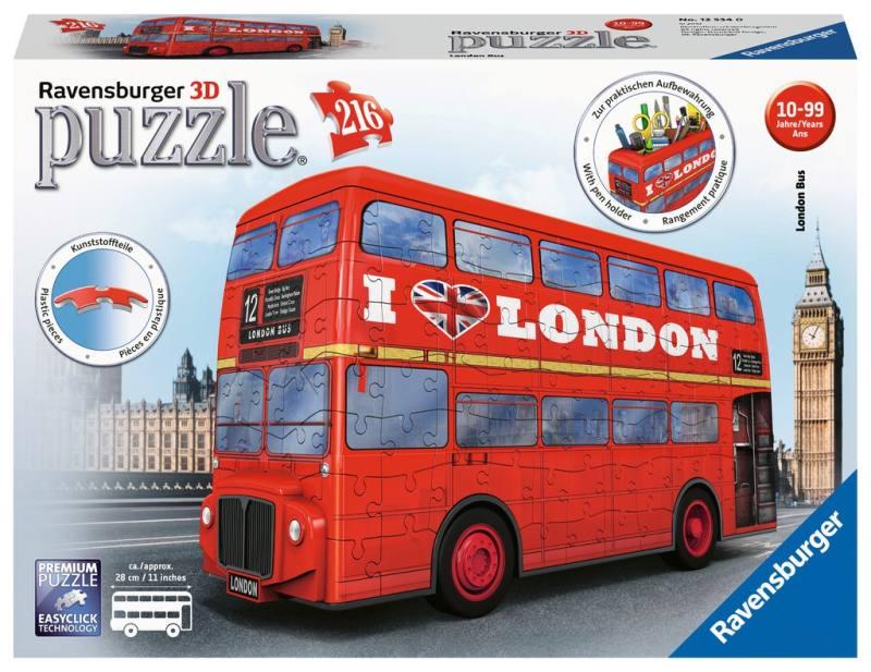 RAVENSBURGER 3D LONDON BUS 12534 RAVENSBURGER
