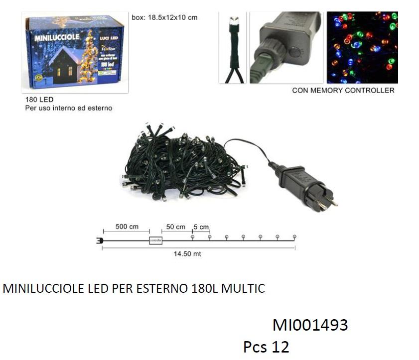 MINILUCCIOLE 180 LED PER ESTERNO MULTICOLOR MI001493