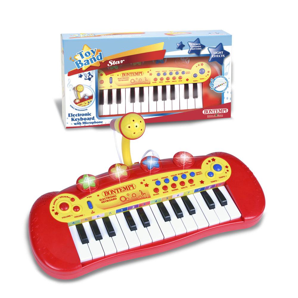 Tastiera Eletronica a 24 tasti con microfono 122931 BONTEMPI NEW