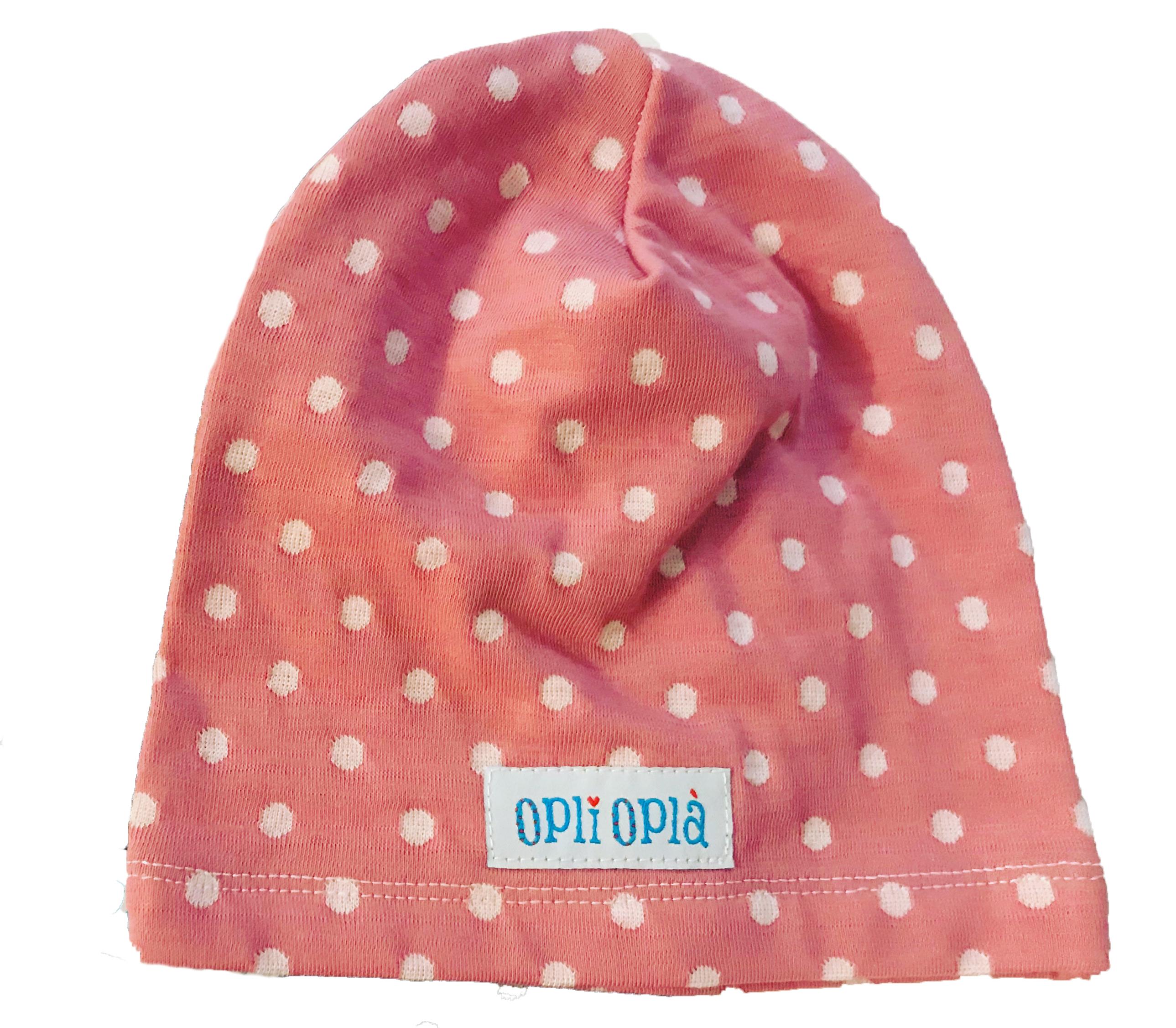 Pois rosa cappello in cotone