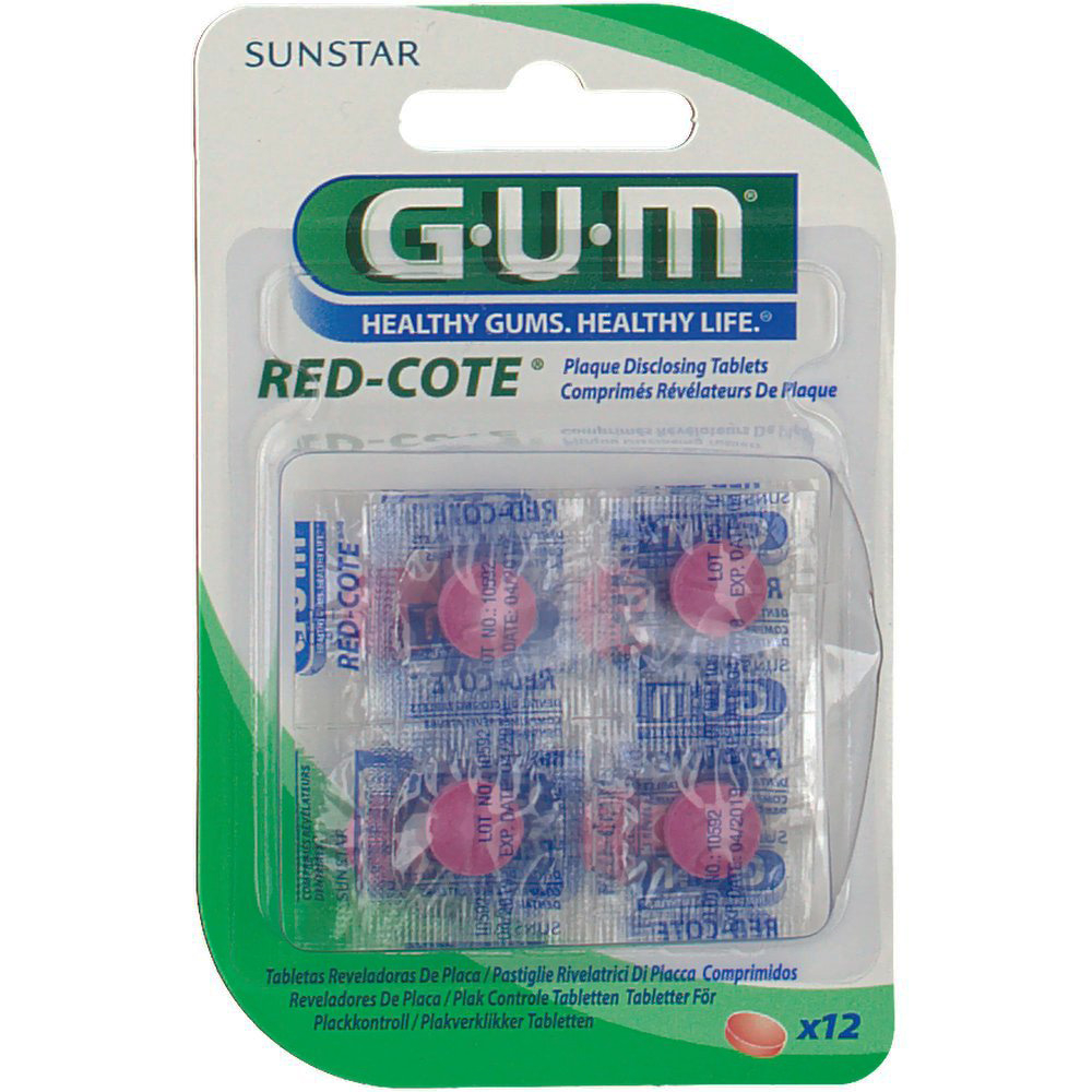 GUM Red-Cote Compresse Rivelatrici di Placca