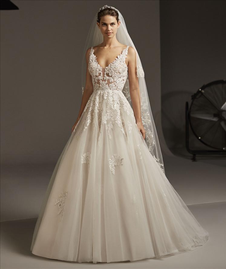 Abito sposa a sirena mod. ARIEL linea PRONOVIAS.