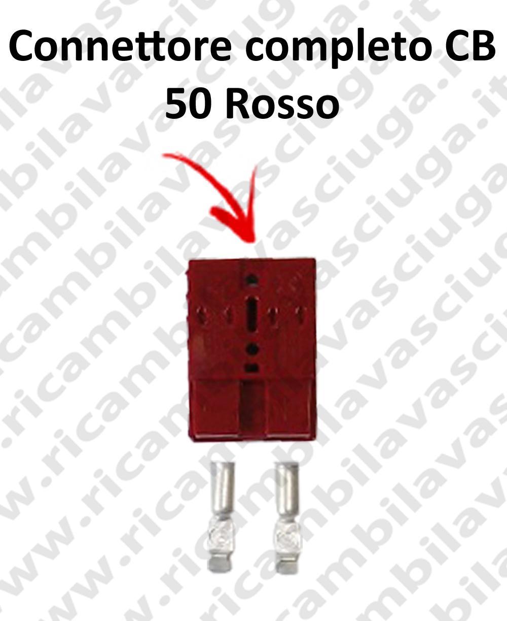 Connettore CB 50 Rosso completo di morsetti per batterie e caricabatterie