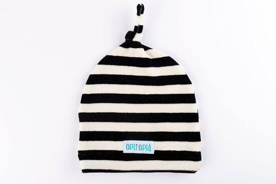 Bianco/Nero cappello in ciniglia