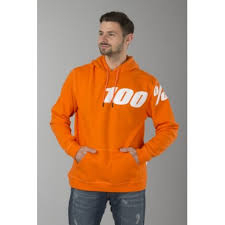 100%  Felpa  Con Cappuccio Disrupt Orange