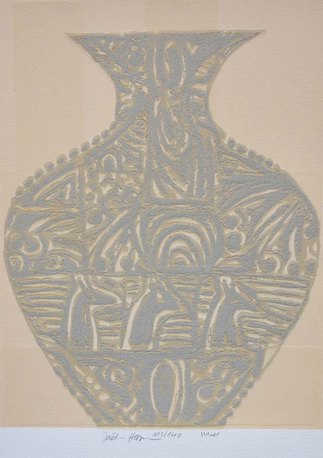 Serigrafia polimaterica con polvere di marmo -  FATHI HASSAN