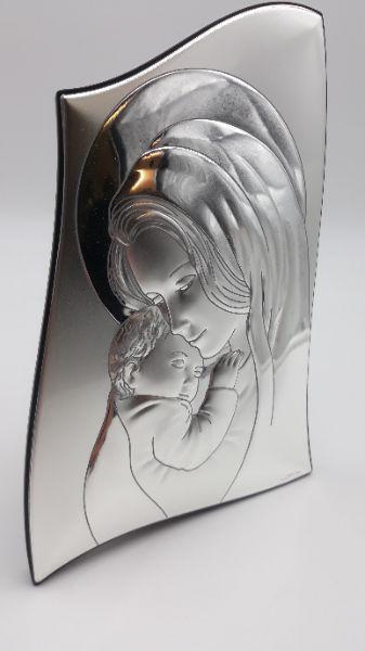 Icona sacra Valenti in argento Madonna con bambino vendita on line   BRUNI GIOIELLERIA
