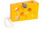 Gioco da infilare Formaggio e Topo, giallo