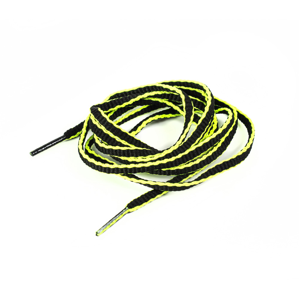 Kit black/yellow fluo laces