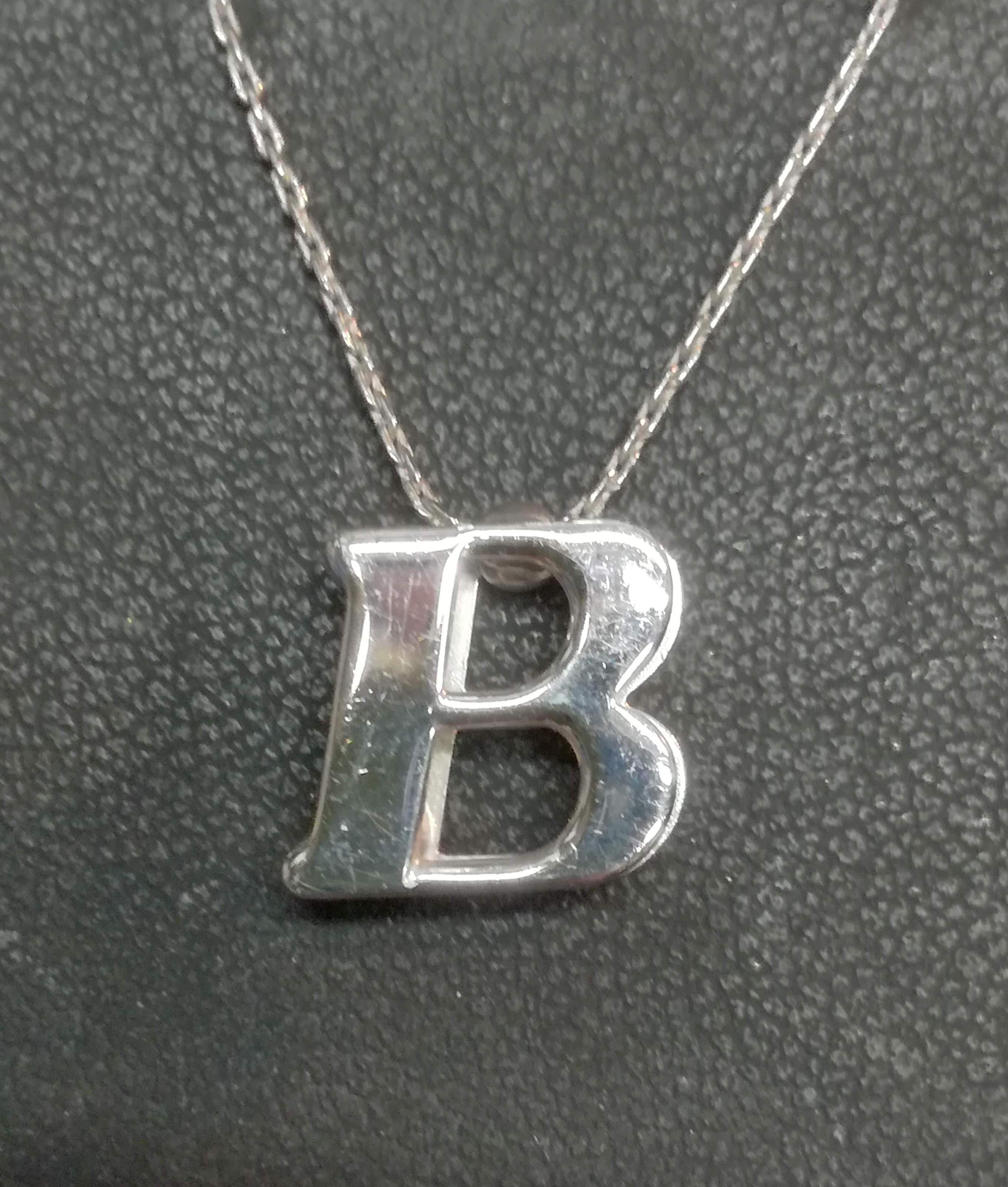 Girocollo argento iniziale B sconto 50%