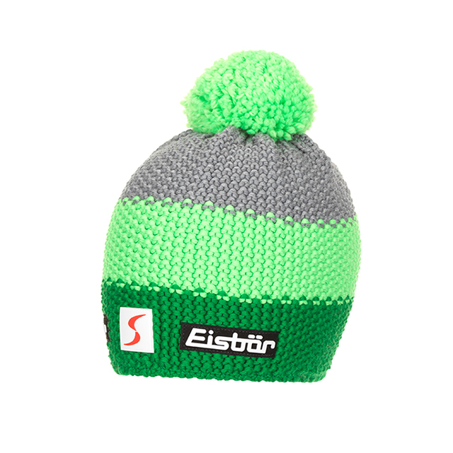 Berretto EISBAR STAR POMPON MÜ SP electric/lightgreen/grigio medio
